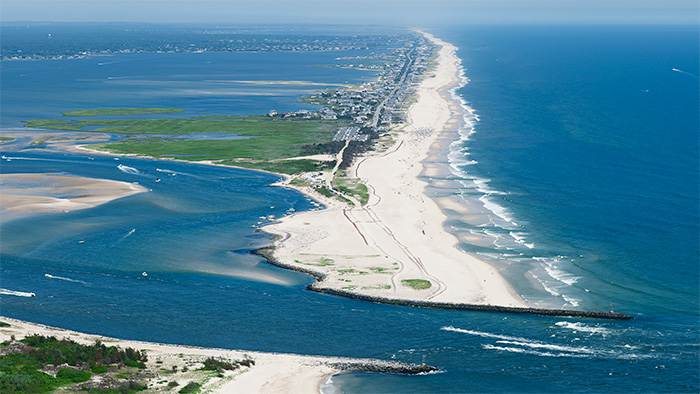 Beach Renourishment In West Hampton Dunes Whdunes North View Aerial
